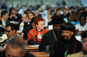 Delegierte im Plenarsaal