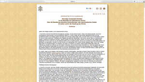 Das Schreiben ist auf der Internetseite des Vatikans veröffentlicht.