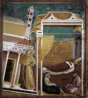 Giotto: Traum des Papstes Innozenz III.
