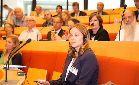 Ein internationales Publikum war auf dem Forum in Berlin vertreten © Konrad Adenauer Stiftung/ Juliane Liebers